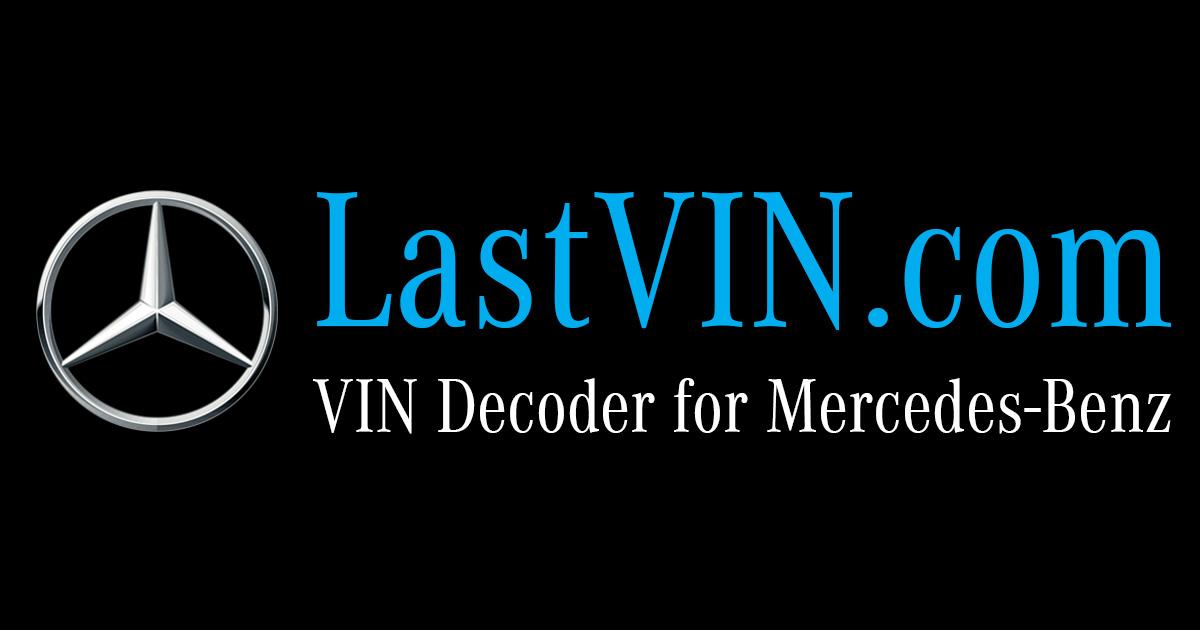 Mercedes Benz VIN Decoder   DataMB.com